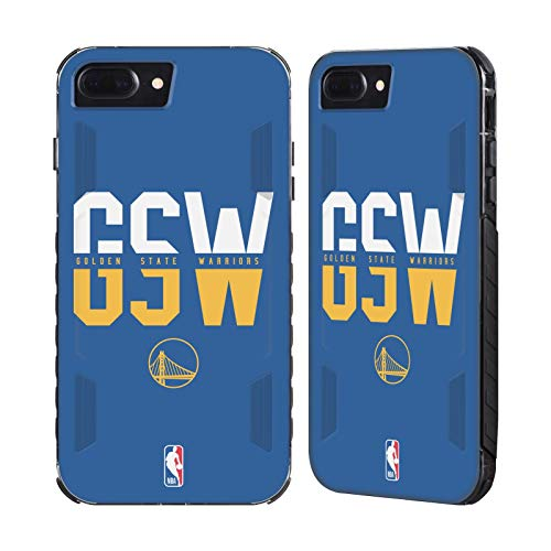 Official NBA Typography 2019/20 Golden State Warriors Black Evolution Case Compatible for iPhone 7 Plus/iPhone 8 Plus