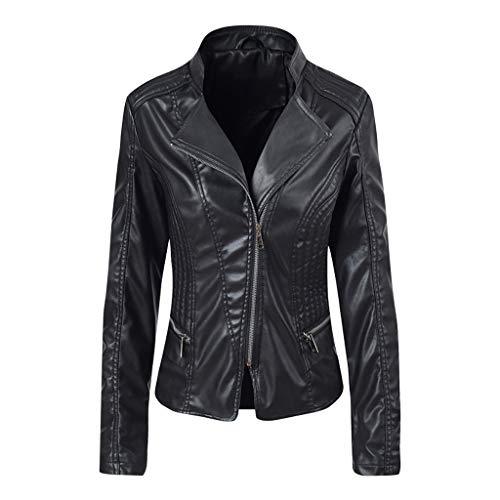 Alikey Locomotief jack, PU-leer, kort, casual sweatshirt voor vrouwen, knoop, slim ritssluiting, bomberjack, lange mouwen, warme jas
