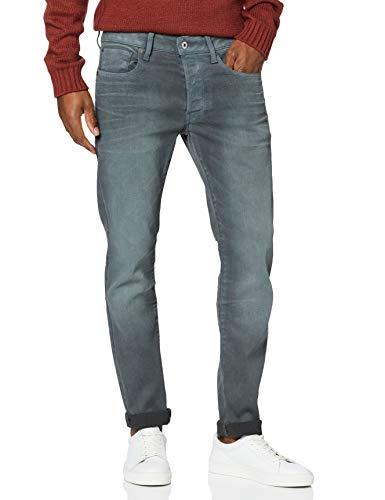 G-STAR RAW Herren 3301 Slim Jeans, Grau (dk Aged Cobler 7863-3143), 33W / 32L