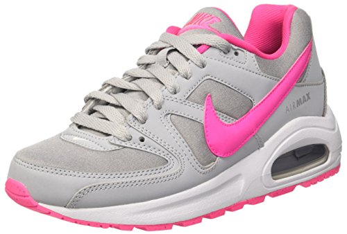 Nike Air MAX Command Flex (GS), Zapatillas de Running para Mujer, Gris (Wolf Grey/Pink Blast-White), 38 EU