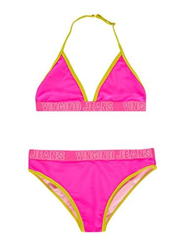 Vingino Mädchen Girls 2tlg. Bikini ZORFY neon pink (128)
