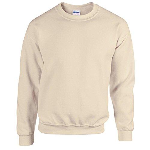 Gildan Heavy Blend Erwachsenen Crewneck Sweatshirt 18000 L, Sand