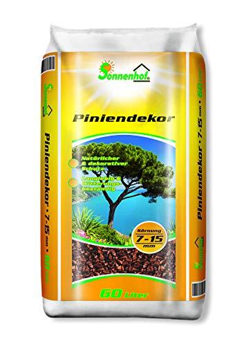Sonnenhof® Pinienrinde 60 Liter 7-15 mmTerrarienerde Dekorrinde Rindenmulch Dekorinde Dekomulch