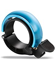Bike Bell, Fimate Mini Bicycle Bell, Aluminium Alloy Ring Horn Accessories for Mountain Biking and Road Bikes Handlebar Diameter 22.2mm-31mm Blue