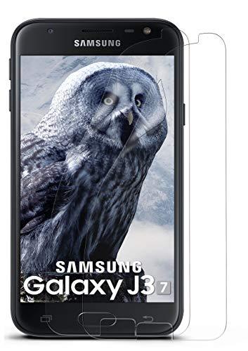 MoEx® Kristallklare HD Schutzfolie passend für Samsung Galaxy J3 (2017) | Premium Bildschirmfolie - Kratzfest & Fast unsichtbar - Ultra Klar