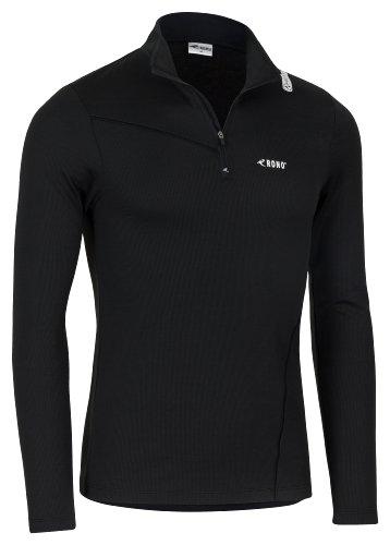 Rono Heatrelease Z-Top T-Shirt zippé à Manches Longues pour Homme Noir (900) Noir (900) XXL