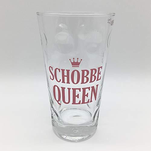 Schobbe Queen Dubbeglas (klar) - Pfalz Weinglas und Schopenglas für eine Pfälzer Schorle Queen
