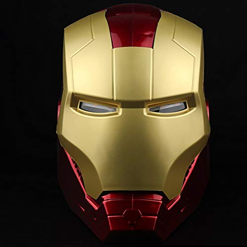 QWEASZER Iron Man Helm Maske Leuchtend, Marvel Avengers Kunststoff Vollmasken Helme...