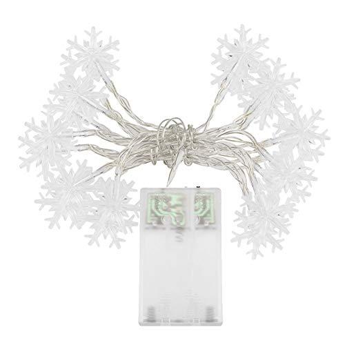 Preisvergleich Produktbild SpringPear® 3 Meter Warmweiß Schneeflocke Lichterkette 20 LEDs Batterie Betrieben für Zimmer Deko Hochzeit Party Weihnachtsbaum Dekoration