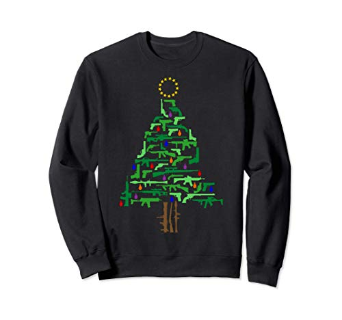 Xmas Patriotic 2nd Amendment Gun Christmas Tree Sweatshirt