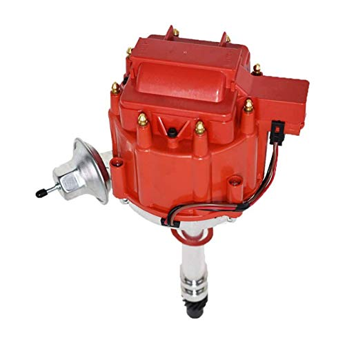 A-Team Performance HEI Distributor 65K Coil 7500 RPM Compatible with GM GMC Small Block SBC Big Block BBC 262 265 267 283 302 305 307 327 350 383 400 396 427 454 Red Cap