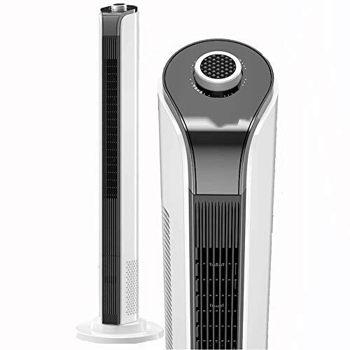 YLLN Ventilatore a Torre oscillante, Ventola di Raffreddamento a Pavimento Silenzioso Senza Lama, Ventola di silenziamento a 3 velocità, Ventola di circolazione dell'Aria stazionaria sicura per macch