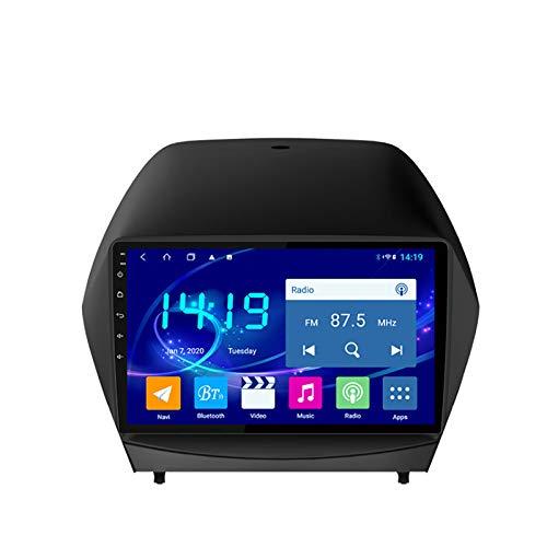 YLCCC Coche Estéreo Sat Nav Adecuado para Hyundai IX35 2010-2013 Coche Estéreo Vehículo GPS Capacitivo Touch HD Carplay WiFi Sistema de Radio Incorporado Tracker,8Core 4G+WiFi:4+64G