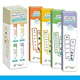 TEACHES 900+ EASY PHONETIC WORDS: Organized into 100+ Phonetic Family rhyme word lists. Children learn the basic and simple phonetic pattern most commonly used in the English language COLOR-CODED PHONETIC CARDS WITH RINGS: Teaches reading with Short ...