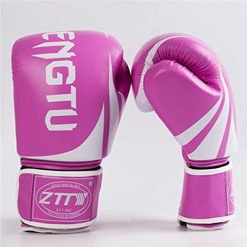 CXYY Boxhandschuh 8oz 10oz 12oz für Erwachsene Kinder Training Stanzen Sparring Bag Mitts Muay MMA Kampfsport-Trainingshandschuh,Dynamic pink,10oz
