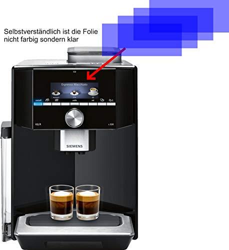 4ProTec I 4X Crystal Clear klar Schutzfolie für Siemens EQ.9 s300 TI913539DE Kaffeevollautomat Displayschutzfolie Bildschirmschutzfolie Schutzhülle Displayschutz Displayfolie Folie