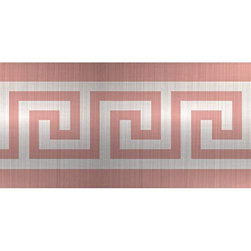 Funlife10 * 200cm geometrisches Muster Taille Linien Selbstklebende wasserdichte, abnehmbare Wand-Rand-Aufkleber for Hauptdekoration BS010 (Color : Brushed Rose, Size : 10x200cmx1roll)