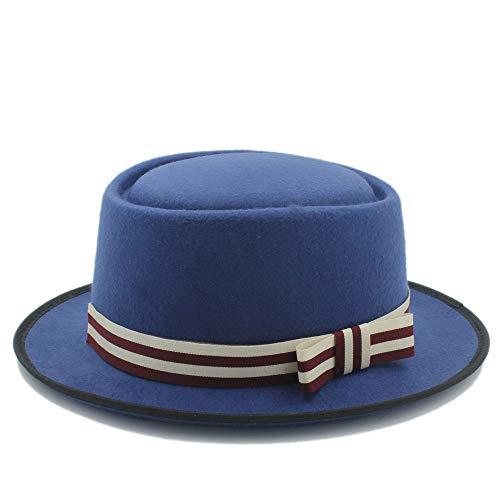 RZL Domo Sombreros, Sombrero Plano de Mujer Homburg Fedpra, Sombrero Elegante de...