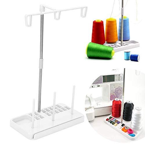 Soporte de hilo para máquina de coser, ligero, base de plástico estable, 3 hilos, ensamblable y suave, para máquina de coser, accesorios para el hogar, bordado acolchado