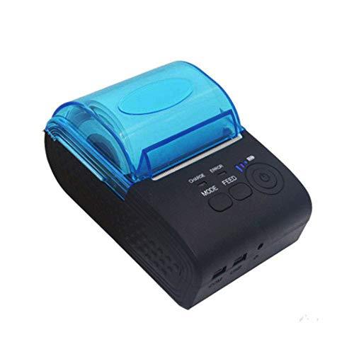ELK Imprimante Thermique Portable Bluetooth, USB Mini Imprimante Thermique À Faible Bruit d'impression Haute Vitesse 58Mm Réception Imprimante, Support De Windows/ISO/Android