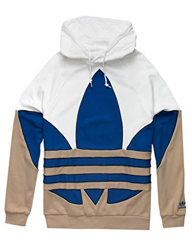 adidas Originals Big Trefoil Out Color-Block Hoodie White/Team Royal Blue/Trace Khaki/Black XL