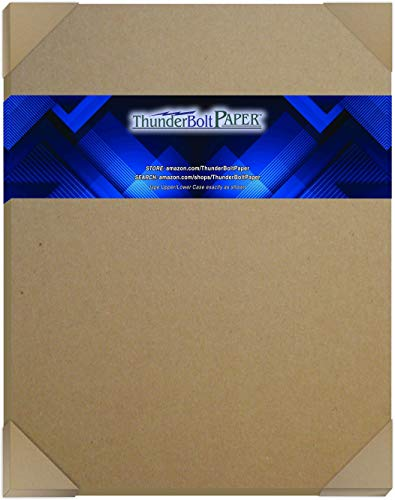 50 Sheets Chipboard 24pt (Point) 11 X 14 Inches Light Weight Scrapbook|Picture-Frame Size .024 Caliper Thickness Cardboard Craft Packaging Brown Kraft Paper Board
