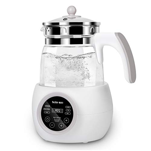 BabyExo Baby Formula Water Kettle,Precise Baby Water Kettle- Temperature Baby Milk Warmer for 24 Hours-1.2L BPA-Free Boil-Dry Protection Instant Water Warmer for Baby Formula