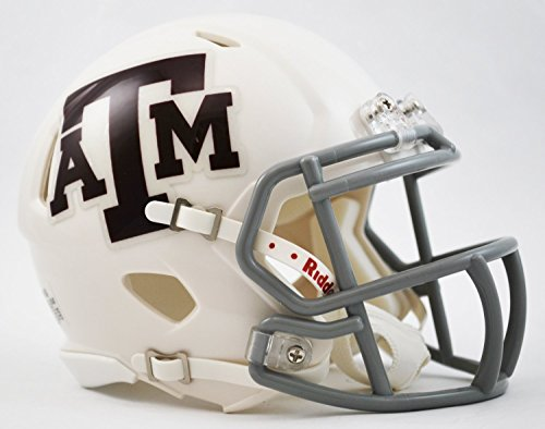 NCAA Texas A&M Aggies White Riddell Revolution Speed Helmet