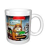 Taza divertida de cerámica para café, té, cacao, taza de café grande con asa, taza de té para oficina y hogar, tazas de porcelana únicas regalo para el día de la madre y cumpleaños y vacaciones