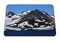 22cmx18cm マウスパッド (山氷河雪水) パターンカスタムの マウスパッド