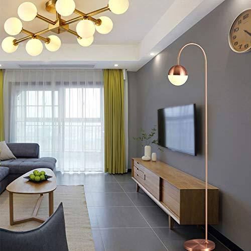 Vast eenvoudige ijzeren kunst-vloerlamp, moderne led-vloerlamp, brons draagbare leeslamp voor woonkamer slaapkamer 322