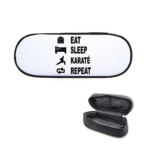 Federmäppchen, bedruckt, Eat Sleep Karate