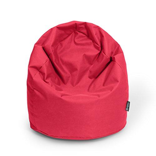 BuBiBag Sitzsack Tropfenform Beanbag Sitzkissen für In & Outdoor XL 300 Liter bis XXXL 470L mit Styropor Füllung in 23 versch. Farben (XXL, rot)