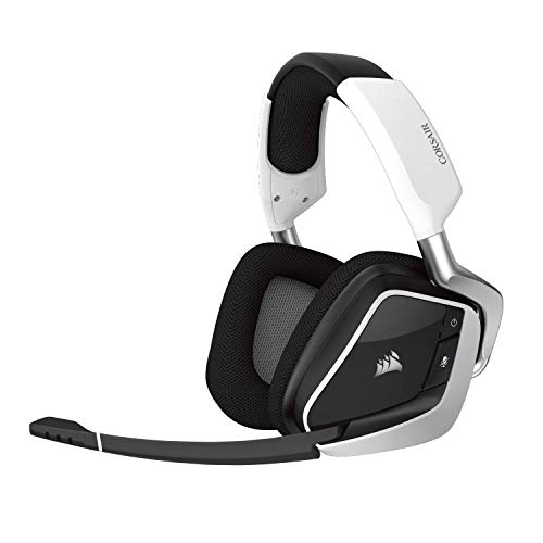 Corsair Void PRO RGB Gaming Headset (PC, USB, Wireless, Surround, Dolby 7.1), Farbe:Weiß (White), Serie:Wireless (Generalüberholt)