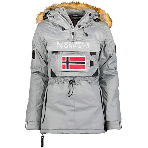 Geographical Norway - Parka para Mujer Gris Claro S