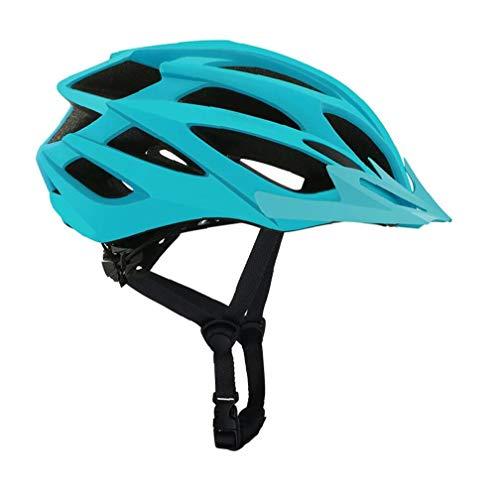Montar Bicicleta Casco Exterior Ligero de Alta Resistencia Casco de Bicicleta de montaña de Edad Hombres Mujeres Azul Casco de la Bici
