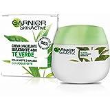 GARNIER SkinActive Crema Viso Idratante Opacizzante, Adatta per Pelli Miste o Grasse, Arricchita con Tè Verde, Confezione da 1, 50 ml