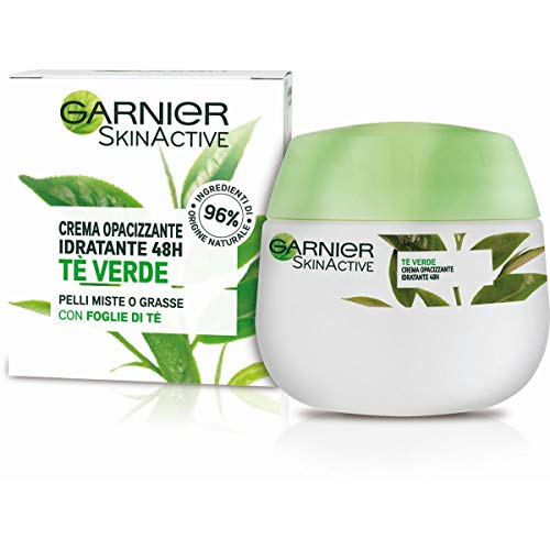 Garnier Crema Viso Idratante Opacizzante Skinactive, Ottima per Pelli Miste o Grasse, Arricchita con The Verde, 50ml