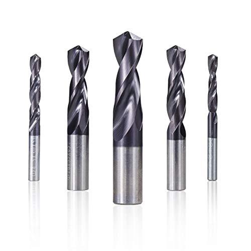 Shenyitool Broca de carburo recubierto 1.0-12mm Broca del arma por un torno CNC de la máquina agujero cortador Bit Fresa espiral herramientas del taladro del metal Herramienta (Size : 1.5mm)