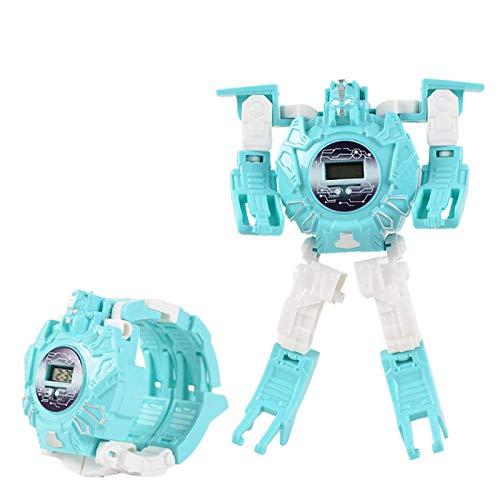 Transform Robot Watch Spielzeug für Kinder Robot Deformation Watch Digital Armbanduhr Geschenk für Jungen...