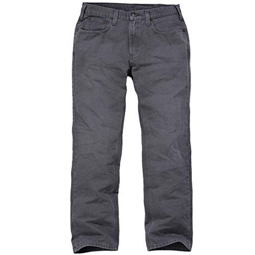 Carhartt - Pantaloni da uomo con 5 tasche, vestibilità comoda, 30W / 32L, Ghiaia, 1