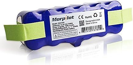 Morpilot iRobot Roomba X-Life Batteria con 1000 Cicli di Carica, 3800mAh 14,4V Batteria Super Lunga Vita Espansa, per iRobot Roomba 500 600 700 800 900 Serie