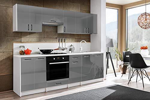 Tarraco Comercial Muebles de Cocina Completa Eliza Gris Brillo 240 cm