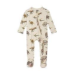 2. Posh Peanut Dinosaur Baby Romper Pajamas