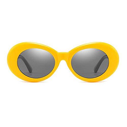 Inlefen Ovale Sonnenbrille Mod Style Retro Dicken Rahmen Fashion Eyewear - 9 Farbauswahl