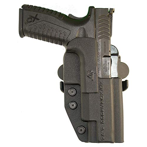 "COMP-TAC.COM International Holster Springfield - XD/XDM/MOD2 5.25"" - Right - Black (Belt, Paddle, Drop Offset)"