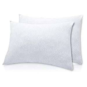 crib bedding and baby bedding organic cotton toddler pillowcase/travel pillowcase pack of 2 set 13x18 inches with envelope closure - hypoallergenic, soft & breathable baby pillow case cover solid gray
