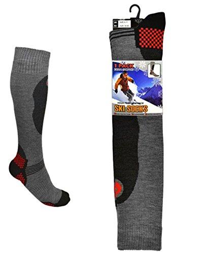 Undercover lingerie 3 Pairs Long Length Ski Socks Mixed Colours Mens