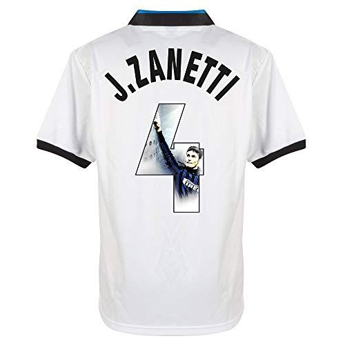 Score Draw Inter Mailand Away J.Zanetti 4 Retro Trikot 1990-1991 (Gallery Beflockung) - XXL
