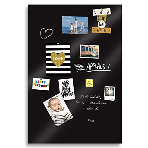 Magnetische PREMIUM TAFEL Wandtafel 150x60cm Kreidetafel Klebefolie Magnetfolie - schwarz inkl.Kreidestift